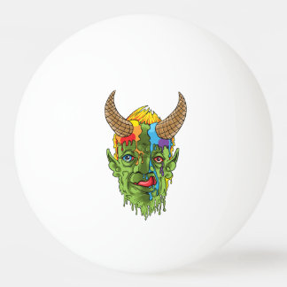 ice cream devil ping pong ball