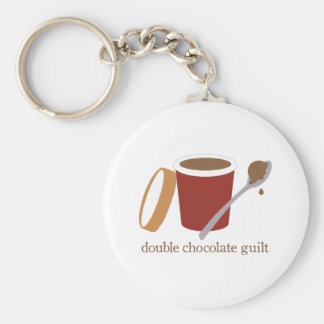 ice cream_double chocolate guilt key chain