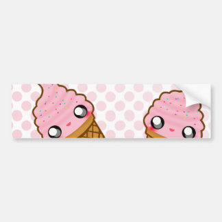 Ice Cream Duo Bumper Stickers