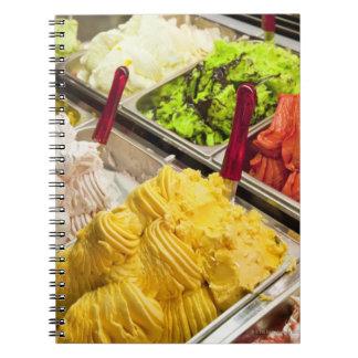 Ice cream flavors, Paris Spiral Note Books