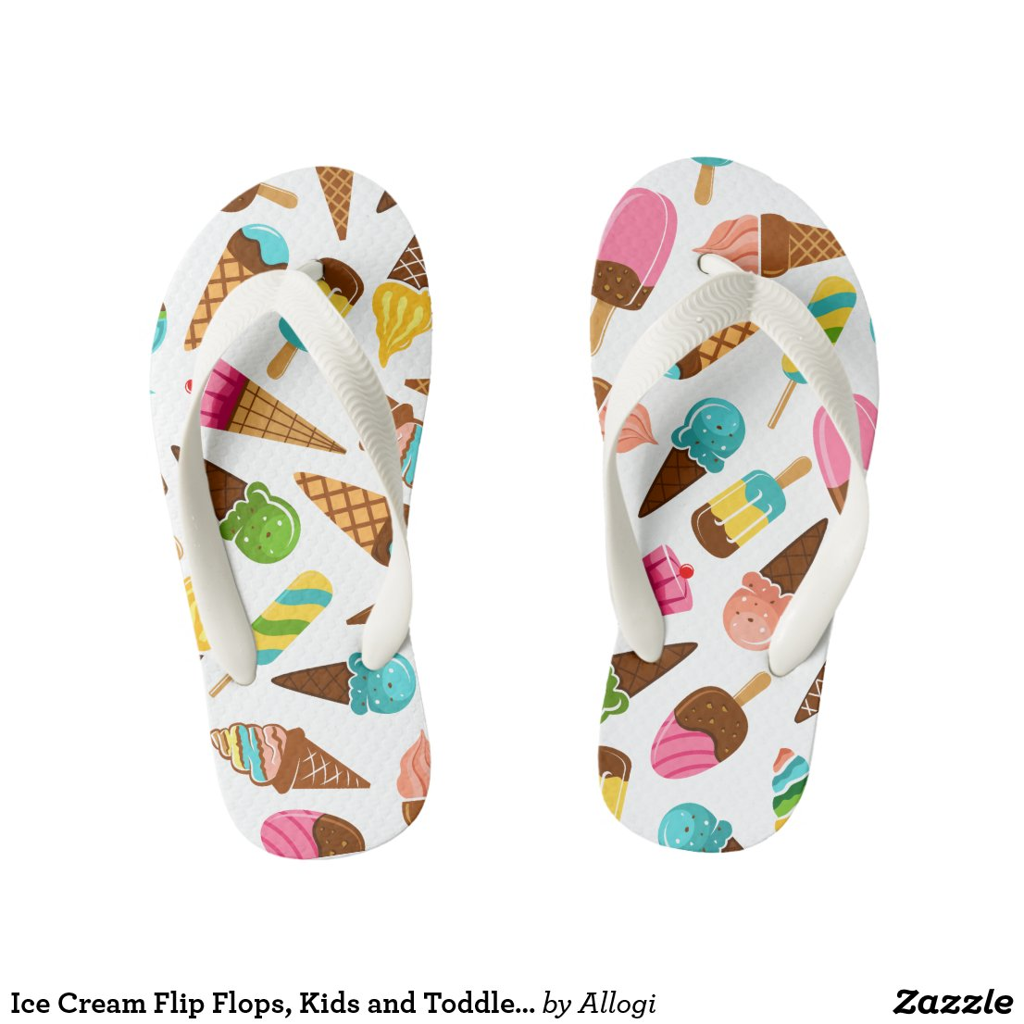 Ice Cream Flip Flops