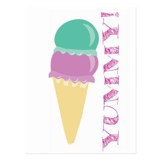 Ice cream food YUMMY! delicious Postcard