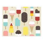 Ice Cream & Frozen Treats Postcards