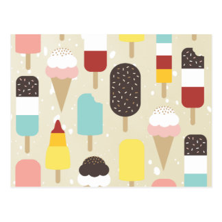 Ice Cream & Frozen Treats Postcards