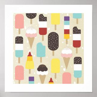 Ice Cream & Frozen Treats Print