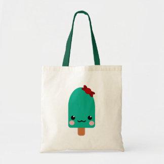 ice cream green tote bag