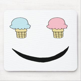 Ice Cream Happy Face Mousepad