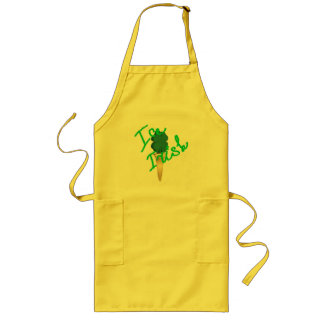 Ice cream horn filled with symbol of Ireland Long Apron
