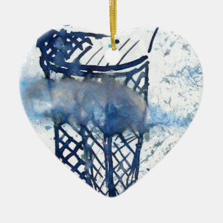 ice cream in the Clouds Ceramic Heart Decoration