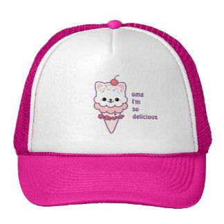 Ice Cream Kitty Cap