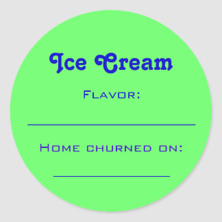 Ice Cream Label Round Sticker