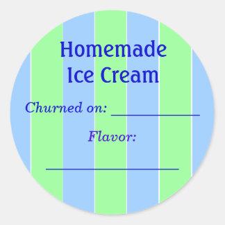 Ice Cream Label Round Sticker