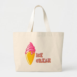 Ice Cream Large Tote Bag