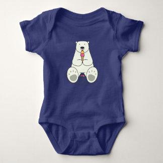 Ice Cream Lover Polar Bear Baby Bodysuit