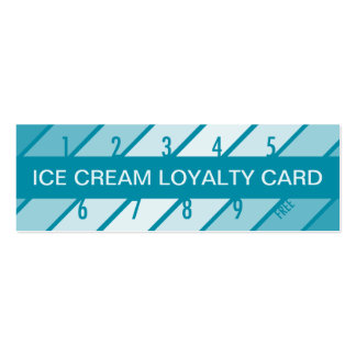 ice cream loyalty card (retrograde) pack of skinny business cards