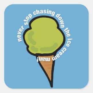 Ice Cream Man Square Sticker