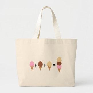 Ice Cream Math Large Tote Bag