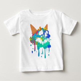 Ice Cream Mess Sweet Skull Sad Melting Baby T-Shirt