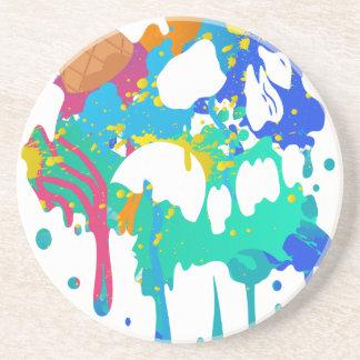 Ice Cream Mess Sweet Skull Sad Melting Coaster