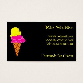Ice Cream, Miss Vera Nice, Business Card