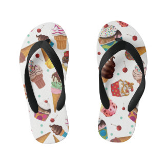 Ice Cream Novelty Print Flip Flops
