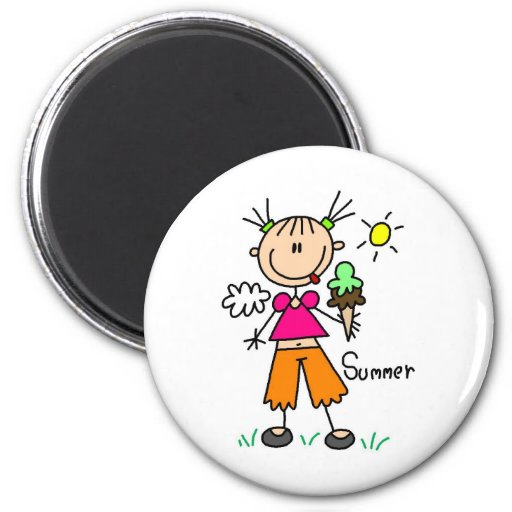 Ice Cream On A Hot Summer Day Magnet Magnet