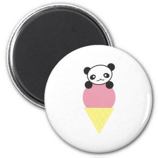Ice Cream Panda Magnet