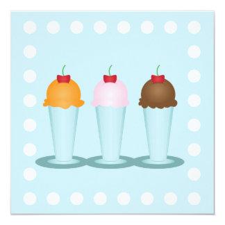 Ice Cream Parlor 13 Cm X 13 Cm Square Invitation Card