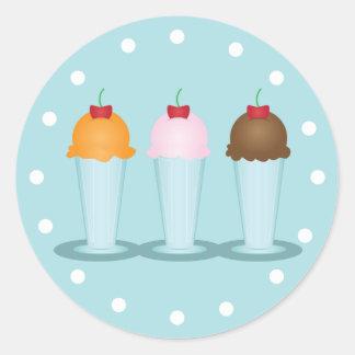 Ice Cream Parlor Classic Round Sticker