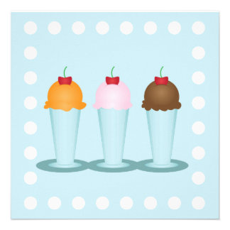 Ice Cream Parlor Custom Announcement