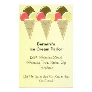 Ice Cream Parlor Flyer Design