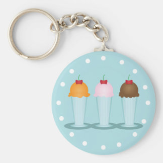 Ice Cream Parlor Key Ring