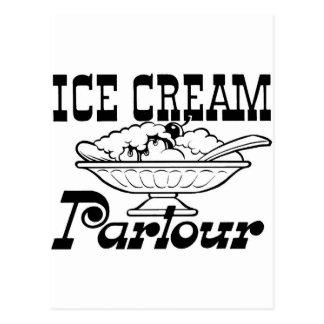 Ice Cream Parlor Postcard
