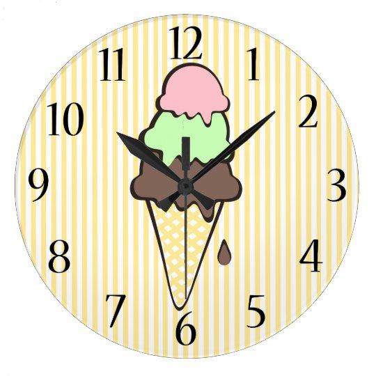 Ice Cream Parlour Large Clock
