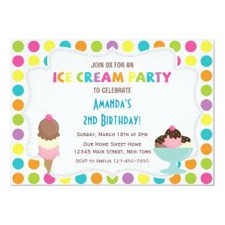 Ice Cream Party Birthday Invitation