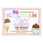 Ice Cream Party Card