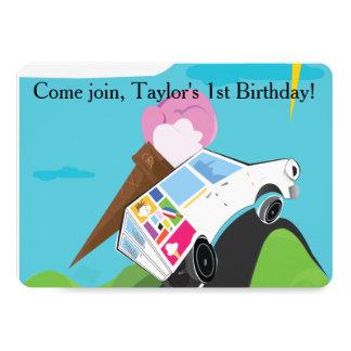 Ice Cream Party 13 Cm X 18 Cm Invitation Card
