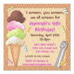 Ice Cream Party Invitation Celebration 13 Cm X 13 Cm Square Invitation Card