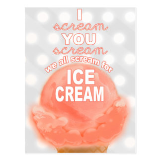Ice Cream Party Invitation or Promotion - Postcard