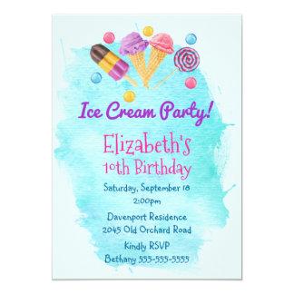 Ice Cream Party Popsicle lollipop Birthday Invite