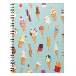 Ice cream pastels spiral note books