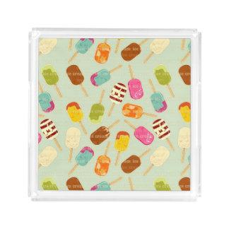 Ice Cream Pattern Acrylic Tray