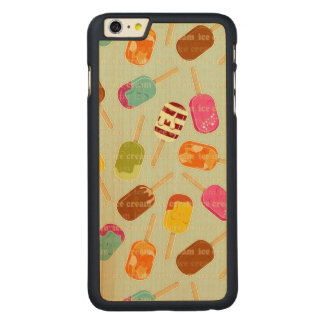 Ice Cream Pattern Carved® Maple iPhone 6 Plus Case
