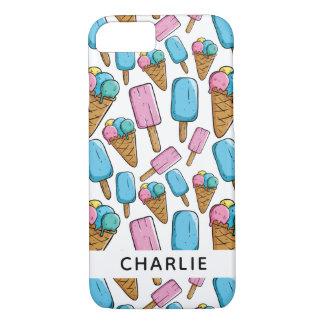 Ice Cream Pattern custom name phone cases