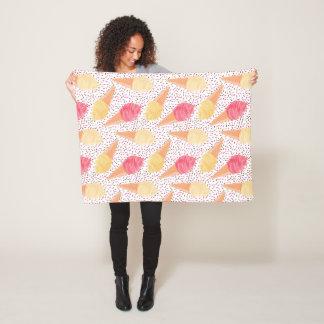 Ice Cream Pattern fleece blankets