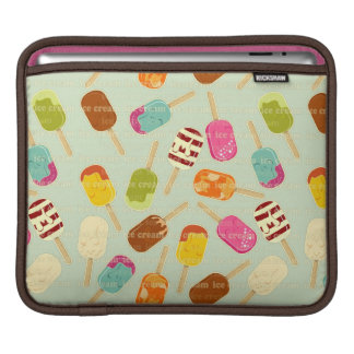 Ice Cream Pattern iPad Sleeve