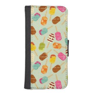 Ice Cream Pattern iPhone SE/5/5s Wallet Case