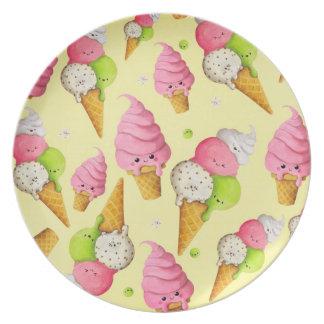 Ice Cream Pattern Plate