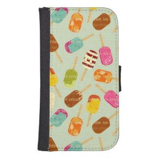 Ice Cream Pattern Samsung S4 Wallet Case