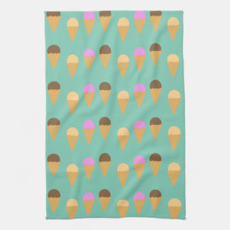 Ice Cream Pattern Tea Towel